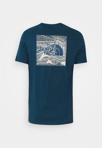 The North Face - REDBOX CELEBRATION TEE - T-shirt con stampa - monterey blue - 6