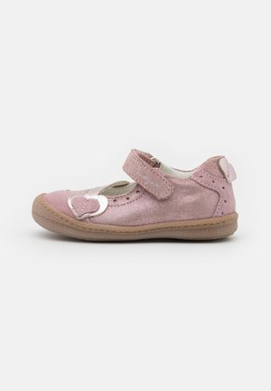 Ankle strap ballet pumps - light pink