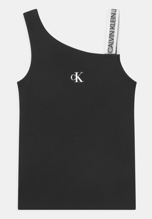 ASYMMETRIC LOGO SLEEVELESS - Top - black