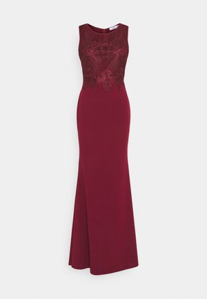 DAISY EMBELLISHED MAXI DRESS - Suknia balowa - wine