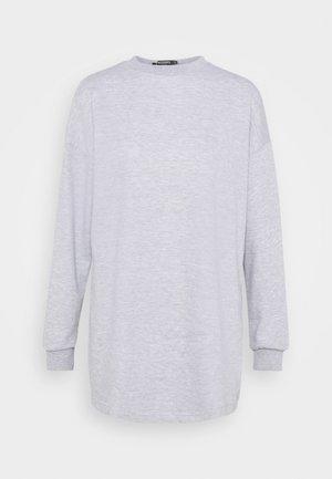 OVERSIZED DRESS - Day dress - grey marl
