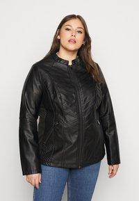 Evans - JACKET - Faux leather jacket - black - 0