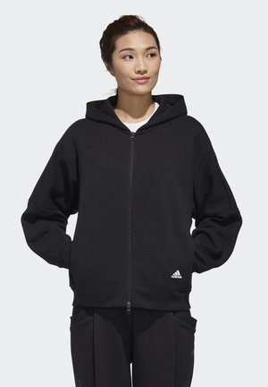 3-STRIPES WORDING  - Sudadera con cremallera - black