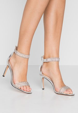 FRIGGA - High heeled sandals - silver