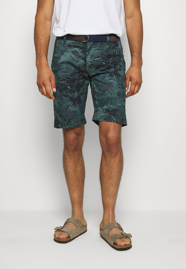 Shorts - metal green