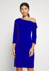 Pedro del Hierro - BODYCON DRESS - Cocktail dress / Party dress - dark blue - 0