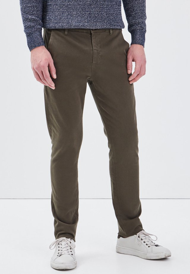 UMWELTFREUNDLICHE - Pantalones chinos - vert kaki