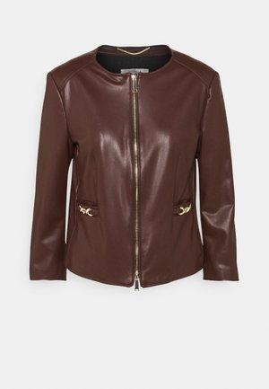 OZIO - Faux leather jacket - marrone
