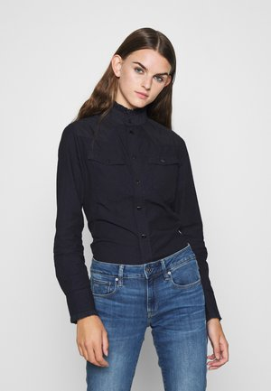 WESTERN KICK FRILL SLIM LONG SLEEVE - Button-down blouse - rinsed