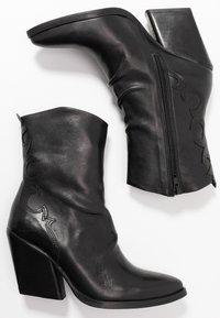 Felmini - MARGARET - Cowboy/biker ankle boot - belga black - 3