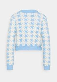 Glamorous - HOUNDSTOOTH CARDIGAN - Jumper - blue/cream multi - 1