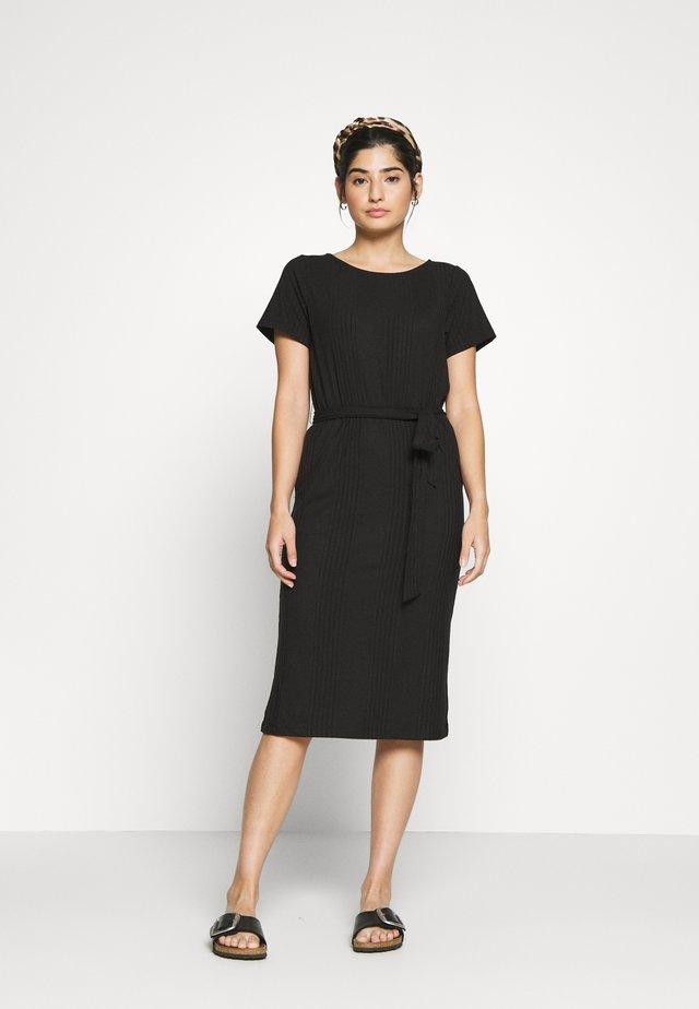 OBJCELIA DRESS - Denní šaty - black