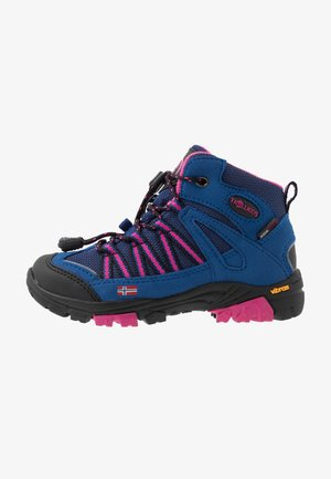 KIDS LOFOTEN MID - Hiking shoes - blue/magenta