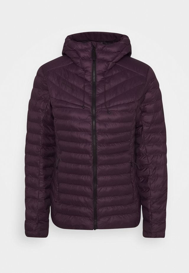 ALBULA IN HOODED JACKET WOMEN - Winter jacket - blackberry