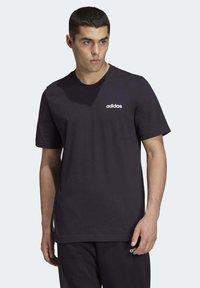 adidas Performance - ESSENTIALS PLAIN T-SHIRT - Basic T-shirt - black - 0