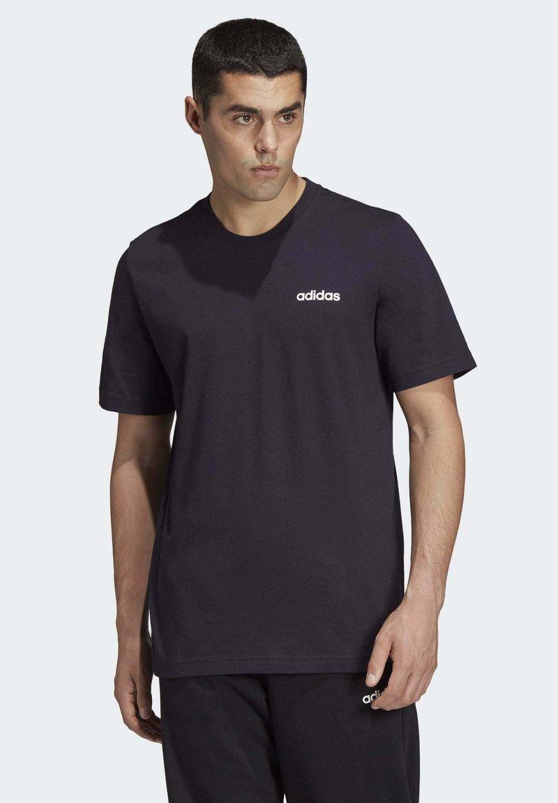 adidas Performance - ESSENTIALS PLAIN T-SHIRT - T-shirt - bas - black