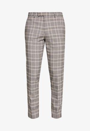 COOK POW CHECK - Oblekové kalhoty - grey