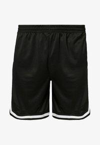 STRIPES - Tracksuit bottoms - black/black/white