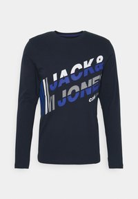 Jack & Jones - JCOALPHA TEE - Long sleeved top - navy blazer - 0