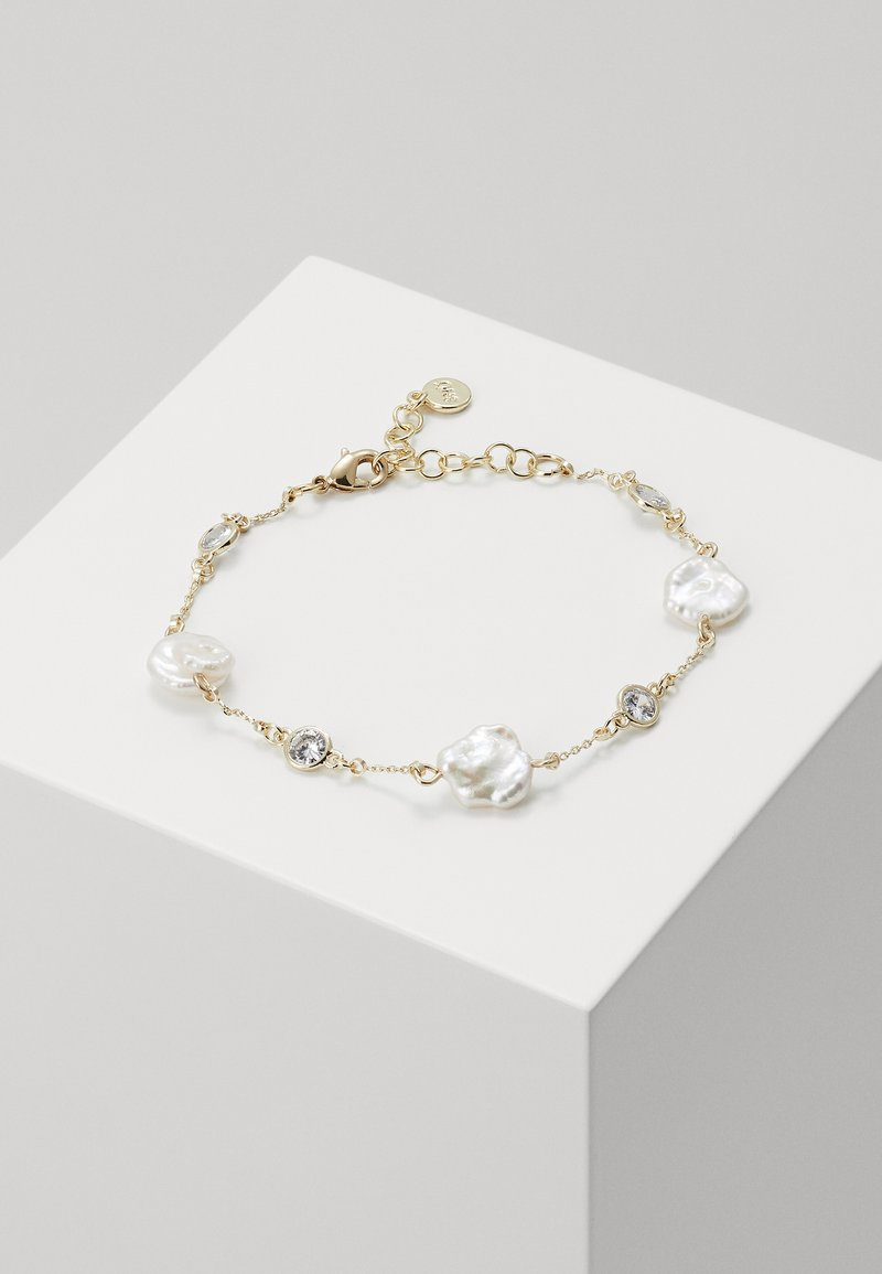 SNÖ of Sweden - SHAPE PEARL - Bracelet - gold-coloured/white