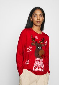 ONLY - ONLXMAS RUDOLF - Jumper - racing red - 0