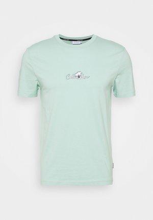 SUMMER CENTER LOGO - T-shirt z nadrukiem - crushed mint