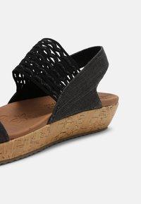 Skechers - BRIE - Platform sandals - black sparkle - 7