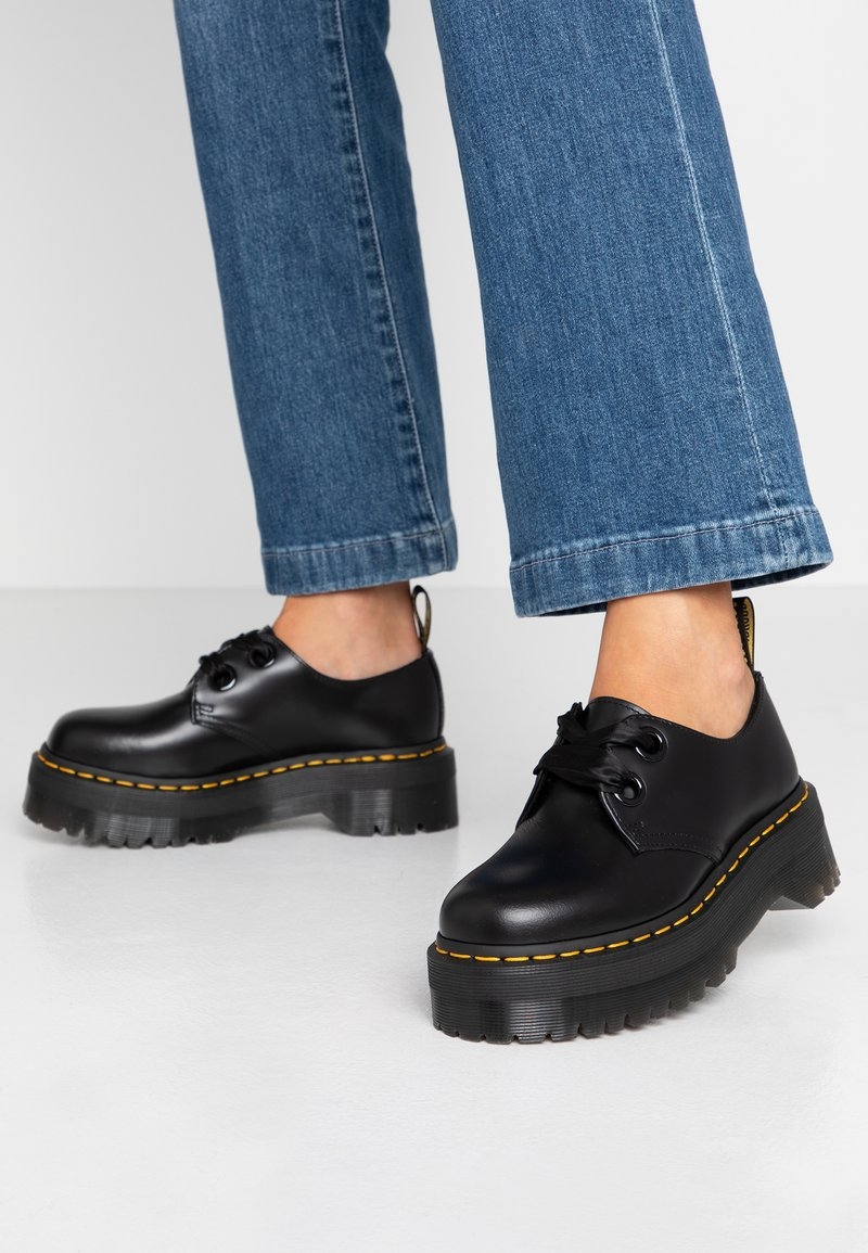 Dr. Martens - HOLLY - Lace-ups - black buttero