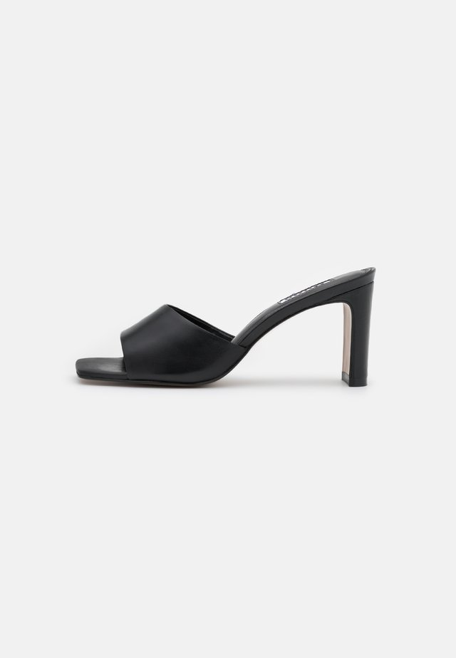 MARCH - Heeled mules - black