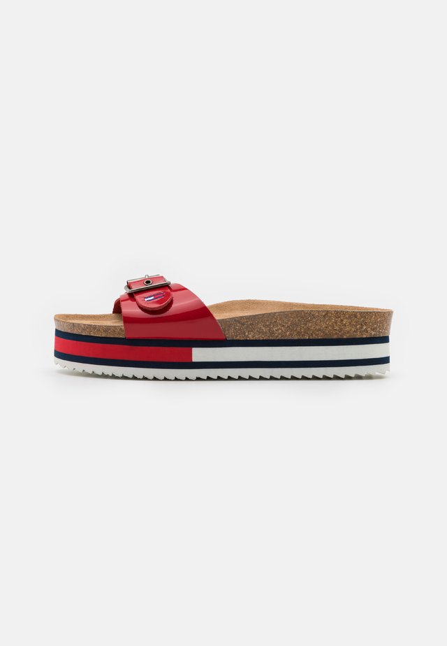 FLAG OUTSOLE MULE - Muiltjes - deep crimson