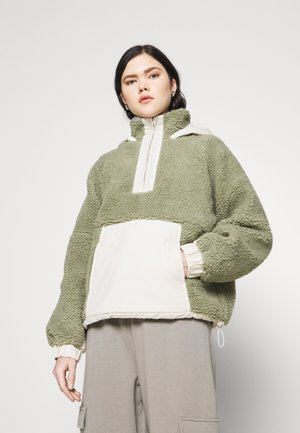 OVERSIZED BORG MIX - Light jacket - sage