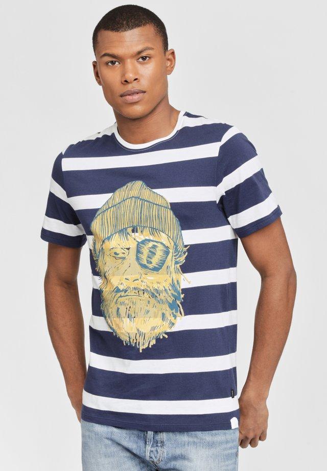 T-shirt imprimé - blue/yellow