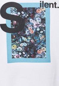 9N1M SENSE - SILENT FLOWERS HOODIE UNISEX - Collegepaita - white - 2