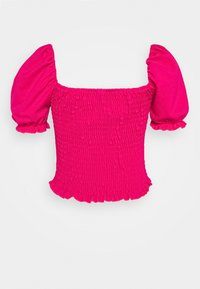 New Look - SHIRRED TOP - T-shirt bra - dark pink - 1