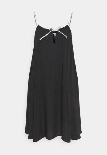 LOGO TIES DRESS - Nattskjorte - black