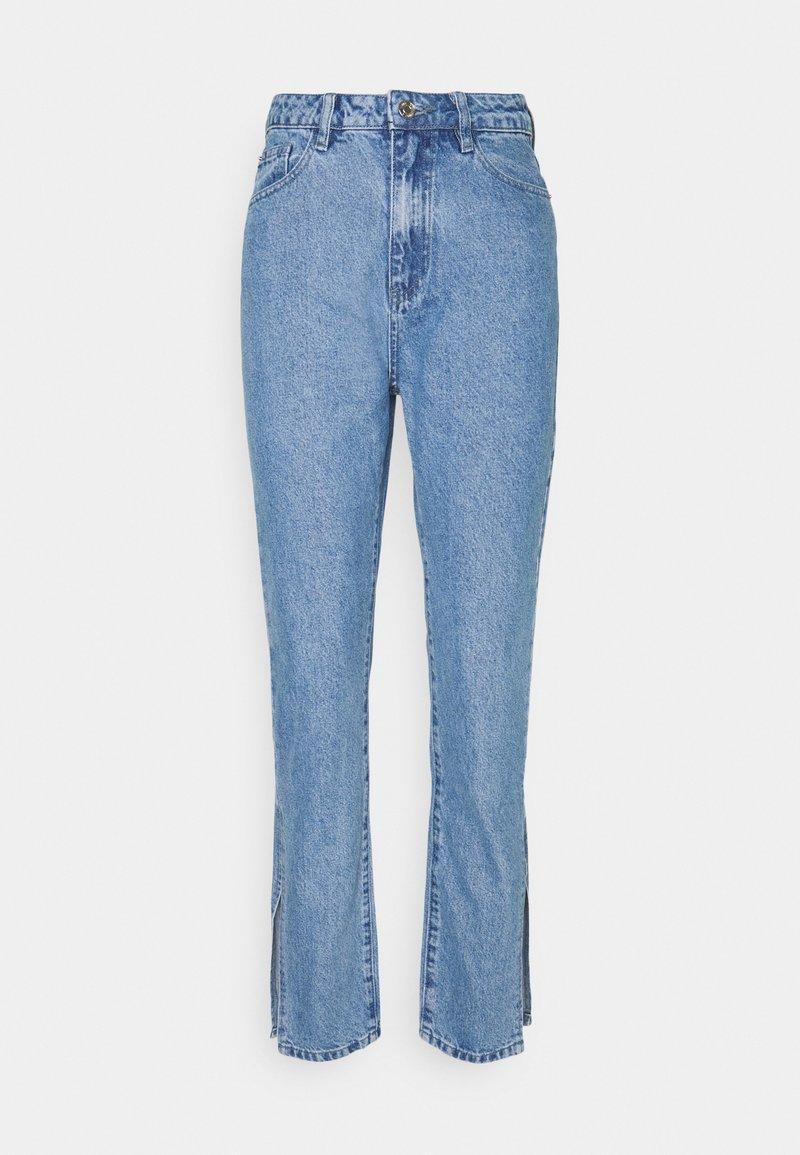 Missguided Petite - EXTREME SPLIT WRATH - Jean droit - light blue