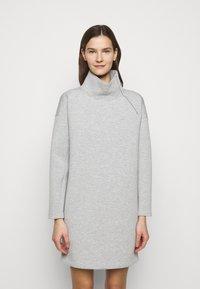 Lauren Ralph Lauren - MODERN KNIT - Denní šaty - pearl grey heather - 0