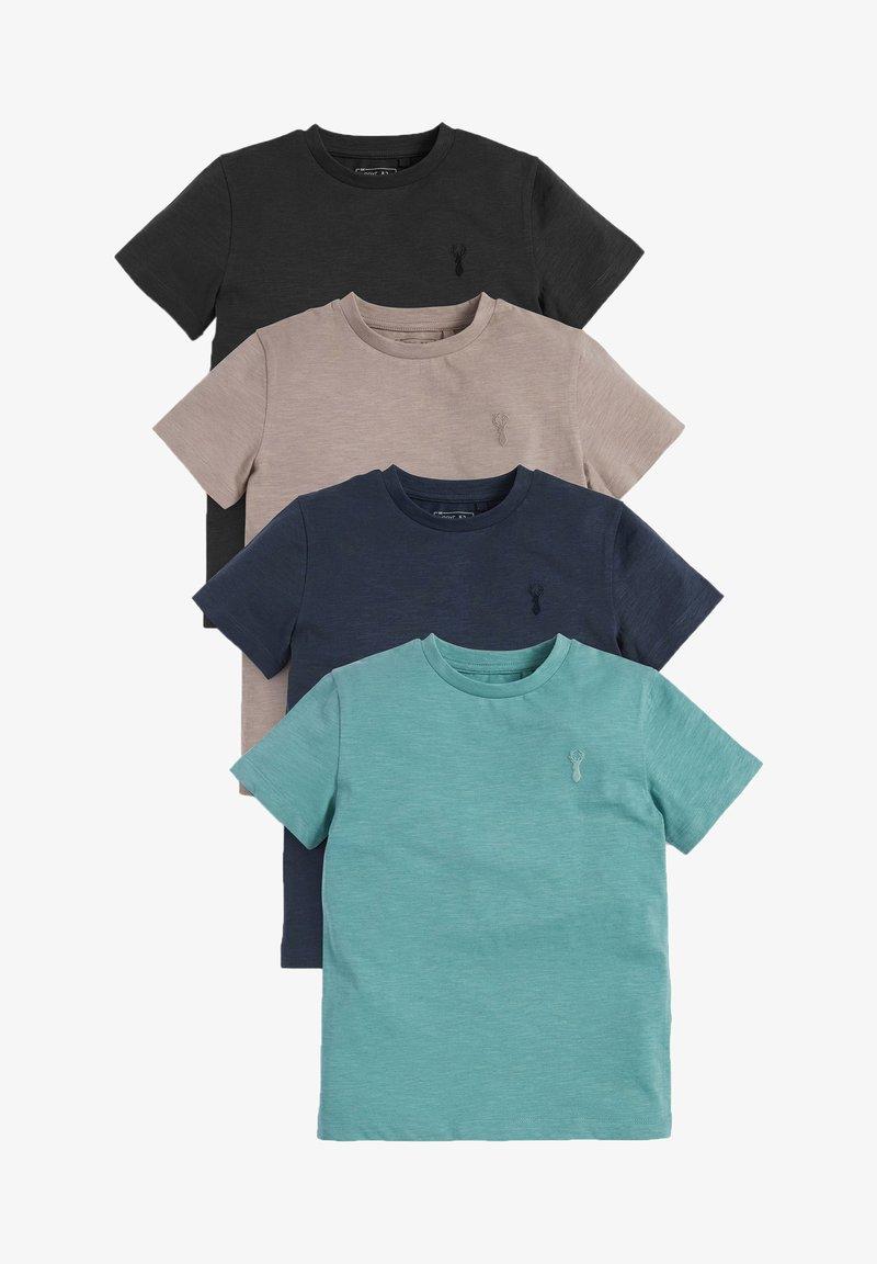 Next - 4 PACK - Basic T-shirt - blue