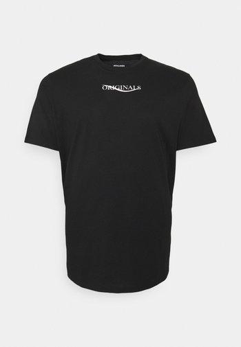 JORELIAS TEE CREW NECK - T-shirt med print - black