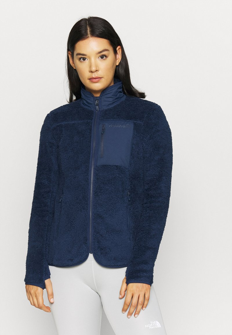 Norrøna - JACKET - Giacca in pile - dark blue