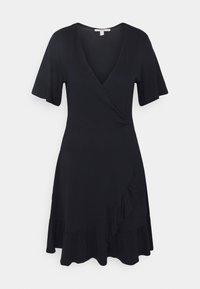 Esprit - VNECK FRILLS - Day dress - navy - 0