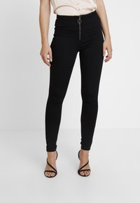 Missguided - RING ZIP OUTLAW - Jegging - black - 0