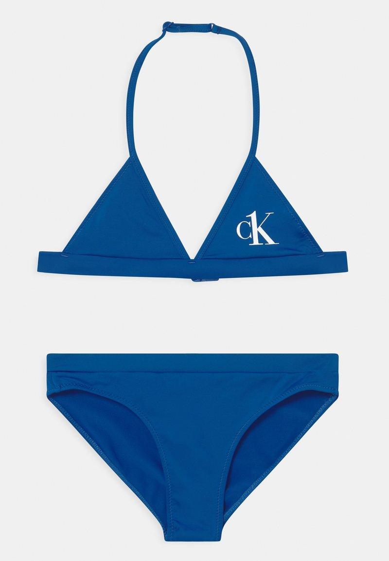 Calvin Klein Swimwear - TRIANGLE SET - Bikini - bobby blue