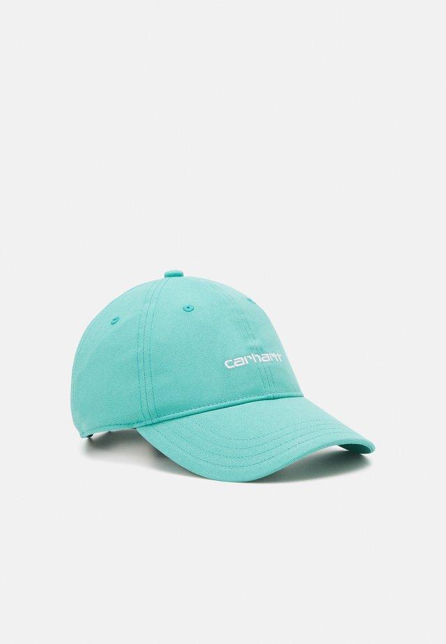SCRIPT UNISEX - Cappellino - turquoise/white