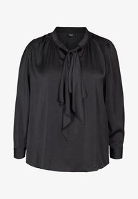 Zizzi - WITH A BOW DETAIL - Blouse - black - 0