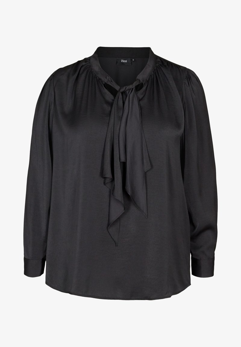 Zizzi - WITH A BOW DETAIL - Blouse - black