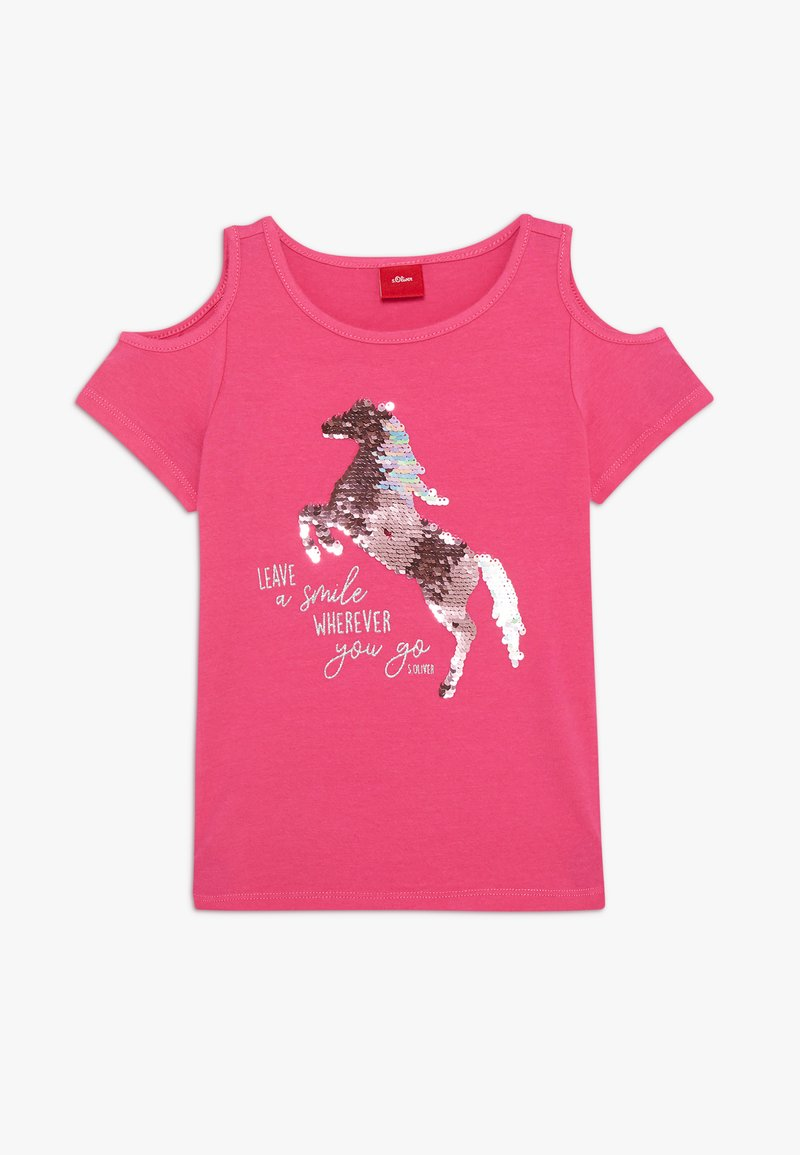 s.Oliver - Print T-shirt - pink