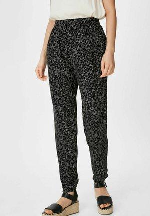 Spodnie materiałowe - black / white