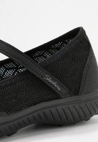Skechers - BE-LIGHT - Ankle strap ballet pumps - black - 2