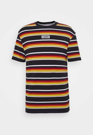 DYE STRIPE TEE - Print T-shirt - black/multi